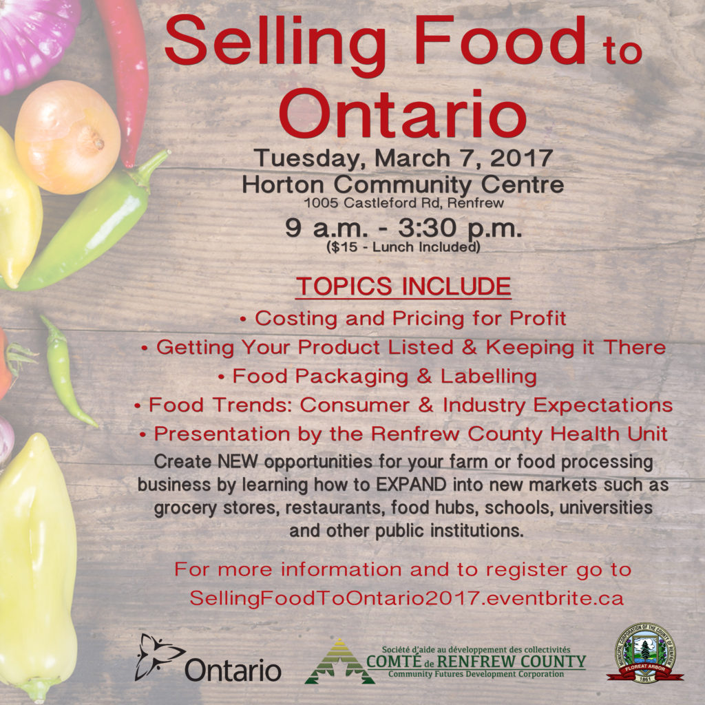 Selling Food to Ontario Poster